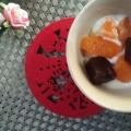 和菓子とヨーグルトデザート