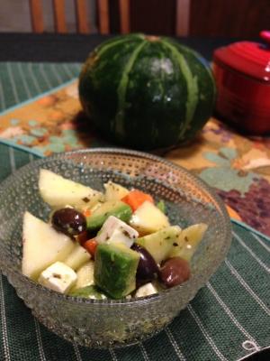 柿とフェタチーズのサラダ