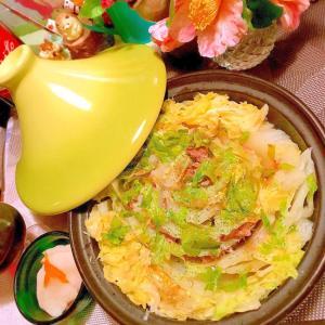 無水で旨´艸`)ラムと白菜のセロリ風味タジン