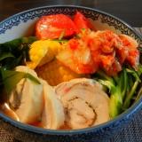 鶏チャーシューの冷麺