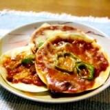 餃子の皮deピザ
