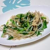 ニラもやしの豆腐チャンプル++