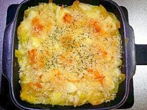 白菜とゆで卵のグラタン