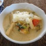鮭と大根の豆乳味噌汁