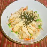 鶏と牛蒡の炊込み飯 (リメイク)