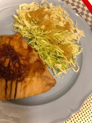 キハダマグロの大蒜醤油ソテー