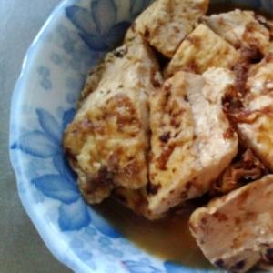 焼き豆腐の煮物