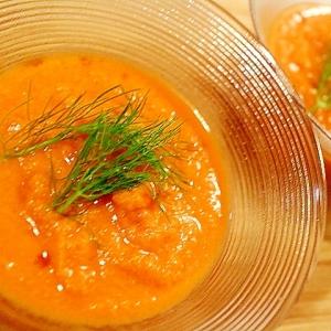 【簡単】飲むサラダ セロリとトマトのガスパチョ