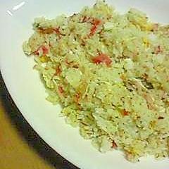 カニカマと卵の炒飯