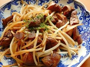 ニラなしで❤鶏レバー&もやし炒め♪(にんにく醤油)
