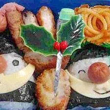 サンタおにぎりとトナカイウインナー