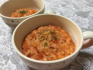 トマト缶で簡単!美味し〜い★トマトリゾット★