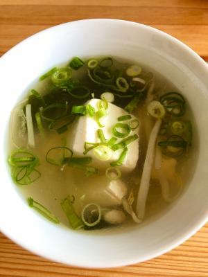 簡単に!☆豆腐ともやしのスープ