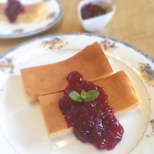 水切りヨーグルトで簡単お菓子♡ベイクドチーズケーキ