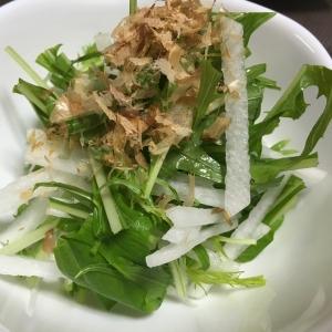 さっぱり美味しい!水菜と大根のシャキシャキサラダ