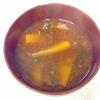 かぼちゃとあおさのりの味噌汁