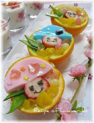 フルーツカップのコドモダケ寿司