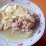 鶏肉と豆腐の塩煮