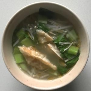 青梗菜大根えのき餃子スープ
