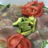 生ハムの簡単サラダ