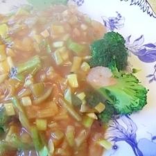 中華風ソースがおいしい☆小エビとブロッコリー炒め