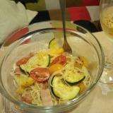 トマトとズッキーニの冷製カッペリーニ