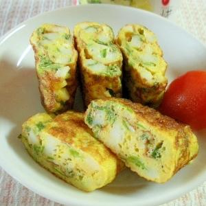☆ちくわと大葉たっぷり!中華風味のお弁当卵焼き☆
