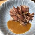 ホタルイカの辛子酢味噌