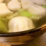 レタスと生姜のもっちりスープ餃子
