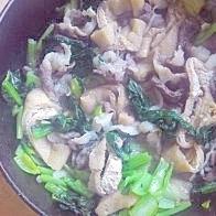 牛肉と小松菜の煮びたし