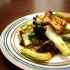 小松菜と厚揚げのごま味噌炒め