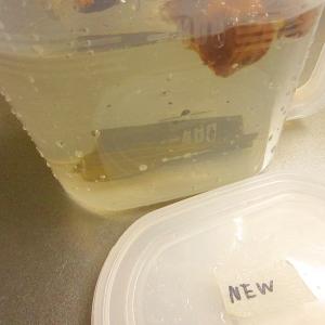 冷蔵庫で簡単☆昆布と椎茸のダシ