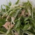 シャキシャキの水菜サラダ