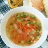お湯を注ぐだけの人参玉ねぎスープ