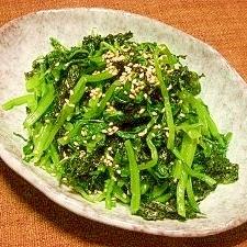 焼きばら海苔と小松菜のナムル