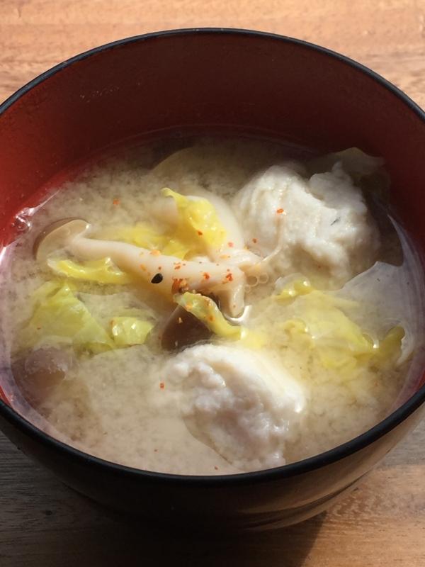 白身魚のすり身で 良いおダシがでる お味噌汁♪