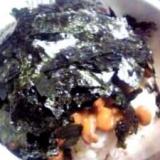 納豆の食べ方-焼き海苔♪