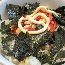 簡単主婦ご飯☆明太てんかすマヨ丼