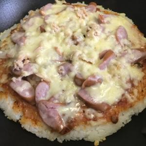 フライパンで☆ご飯ピザ