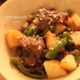 牛肉と長芋の甘辛炒め