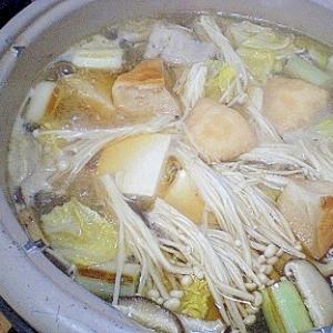 「焼きネギと新発田麩のお鍋」    ♪♪
