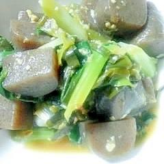 蒟蒻とネギの醤油麹煮