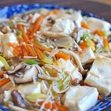 とろーり♪豆腐のきのこあんかけ