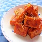 高野豆腐のピリ辛焼き肉のたれ炒め