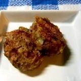 ロールキャベツの残った種で お弁当用ハンバーグ