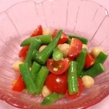 ひよこ豆といんげんのサラダ