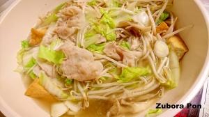 豚バラもやしの中華風鍋