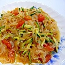 こんにゃくと野菜の中華サラダ