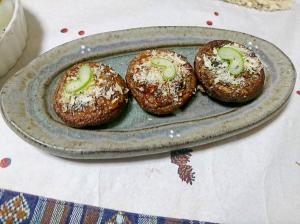 椎茸のふき味噌焼き