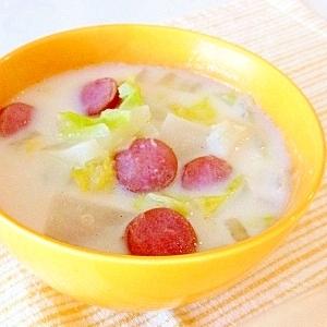 ぽかぽかあったまる★白菜と大根の生姜ミルクスープ